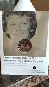2005-Official-First-Day-Terry-Fox-1-Dollar-Coin-RCM-Sealed-and-4-Loonies-WOW