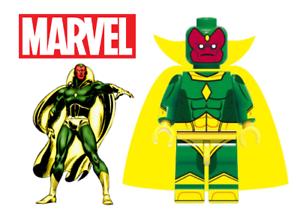 NEW MARVEL VISION FIGURE LIKE MINIFIGURE LEGO NEW USA SELLER