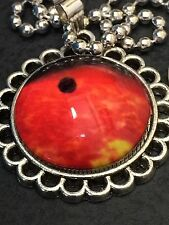 """Celestial Moon Red Mercury Charm Tibetan Silver with 18"""" Necklace C32"""