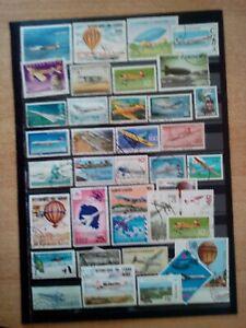 Gli aerei lot FRANCOBOLLI sellos Stamps Timbres