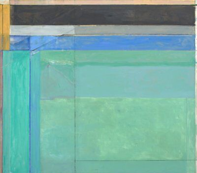 1980 by Richard Diebenkorn Abstract Art Print Poster 11x14 Untitled