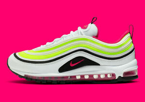 Details about New Nike Men's Air Max 97 Shoes (CI9871 100) White Rush Pink Black Volt