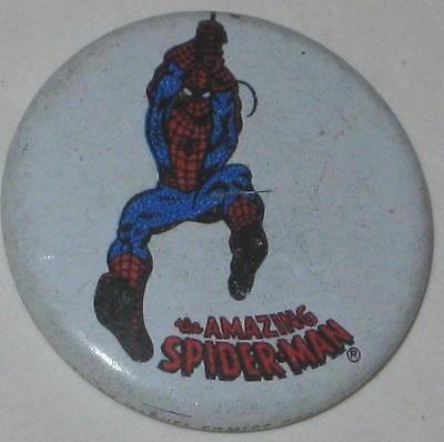 """1970's Spiderman Tin Litho Pin 3/4"""""""