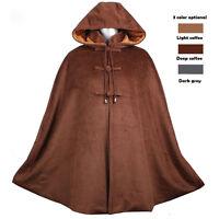 Winter Warm Velvet Buddhist Meditation Zen Monk Shaolin Lay Cloak Robe Clothing