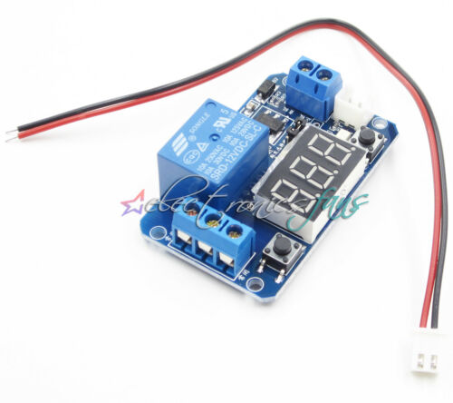 12V LED Digital Anzeigen Auslöser Zeit Verzögern Relais Modul 0-999s 0-999Second