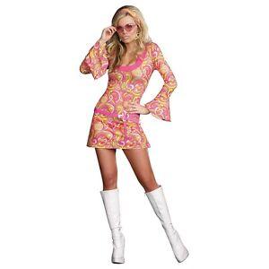 Go go girl costume adult 60s or 70s gogo dancer hippie halloween fancy