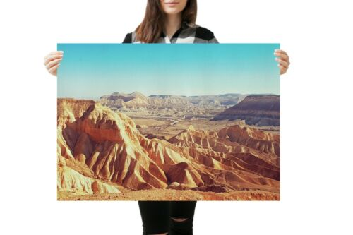 A1 Israel Desert Mountains Poster Size 60 x 90cm Landscape Poster Gift #16636