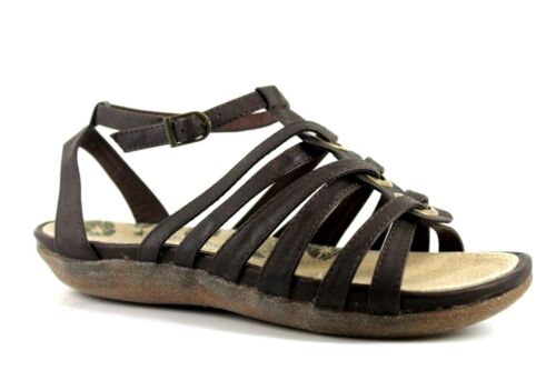 Catherine Rino Agatha Womens UK 4 to 7 Brown Flat Gladiator Ankle Strap Sandals