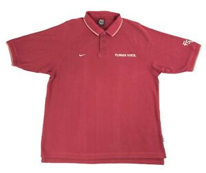 Vintage-Nike-Mens-Florida-State-Seminoles-Polo-Short-Sleeve-Red-T-shirt-Size-XL