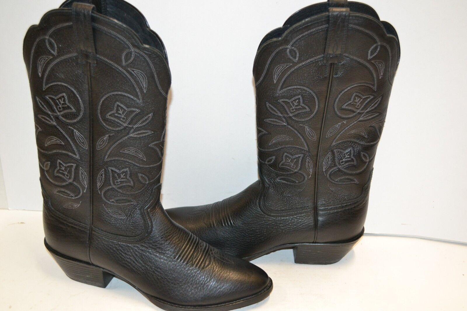 Ariat 10001037 deertan Western R Toe Semelle en Caoutchouc Cowboy Bottes d'équitation Noir 9 B