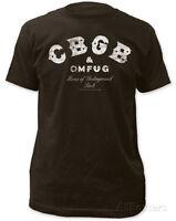 Cbgb- Distressed Logo Apparel T-shirt Xl - Black