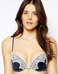 ELLE MACPHERSON Lush Bloom Push Up PLUNGE BRA Size 36DD NEW