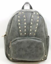 Yoki Fashion Bunny Backpack Washed Black w/ Gold Tone Stud Detail