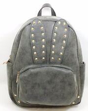 Yoki Fashion Bunny Backpack Washed Black w/ Gold Tone Stud Detail