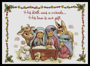 Details About 630 Msa Bill Or Ruth Morehead Nativity Religious Christmas Greeting Card New