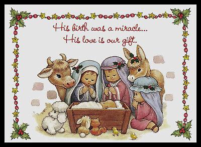 630-MSA Bill or Ruth Morehead NATIVITY /'RELIGIOUS/' Christmas Greeting Card NEW