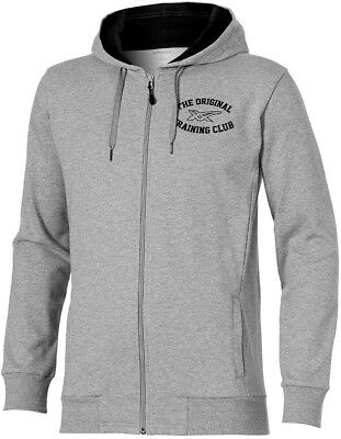 Asics Graphic Mens Full Zip Hoody - Grey