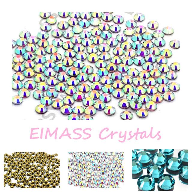 1440 x EIMASS® Hotfix Low Price Premium DMC Glass Crystals, Flat back Gems, 7767