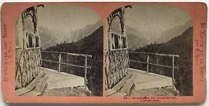 Suisse La Jungfrau Foto Lamy Stereo Stereoview Vintage Albumina
