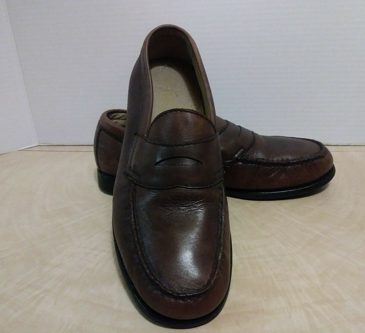 Mens Bass Weejuns Parnell Loafer shoes Brown Size 8.5 D