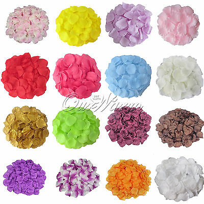1000 Silk Flower Rose Petals Wedding Party Valentine Confetti Venue Decoration