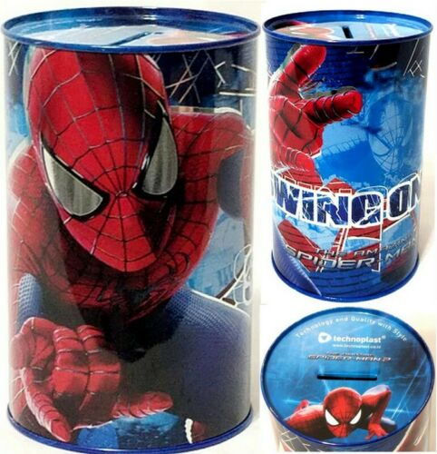 Marvel The Amazing Spider-Man 2 Kids Tin Can Coin Piggy Bank