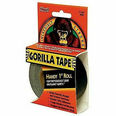 """6 PACK of Gorilla Glue 61001 Adhesive Duct Tape Handy Rolls 30/' Length 1/"""" W"""