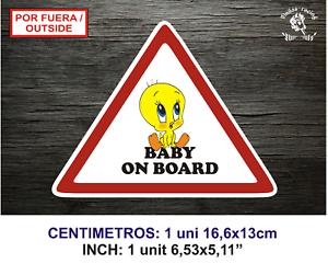BABY ON BOARD PIOLIN LBB132-I VINILO PEGATINA VINYL STICKER DECAL AUFKLEBER