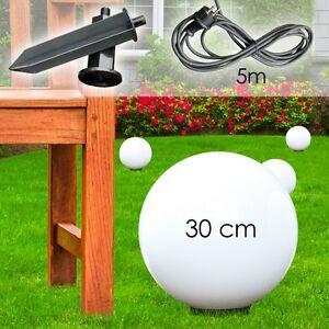 Boule lumineuse 30 cm Luminaire de jardin Lampadaire Lampe de sol ...