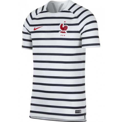 Youth Nike France WC World Cup 2018 Elite Soccer Training Jersey White Kids