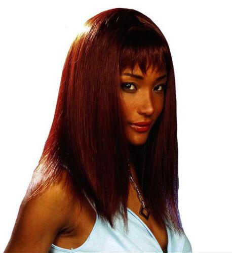Ladies Straight Fringe 90s Fancy Dress Wig Blonde//Black//Red Friends Rachel