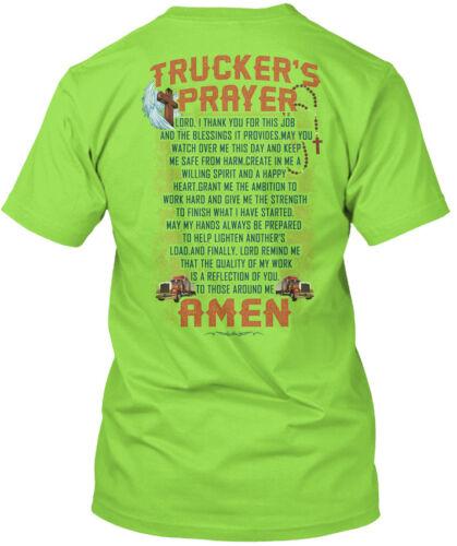 Cool Proud Trucker Trucker/'s Prayer Amen Hanes Hanes Tagless Tee T-Shirt