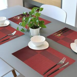 Place-Mats-PVC-Heat-resistant-Table-Mat-Set-of-4-Woven-Washable-Red-Christmas