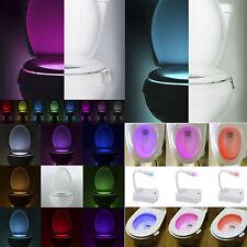 8 Colors LED Toilet Bathroom Night Light Human Motion Activated Seat Sensor Lamp