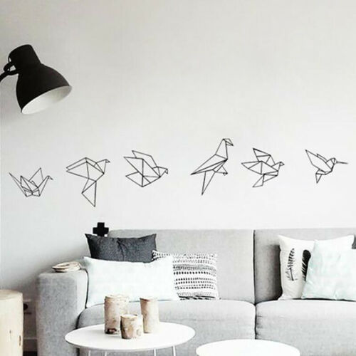 Waterproof Geometry Decal Animal Wall Decal Non Toxic Mural Black Simple Decal