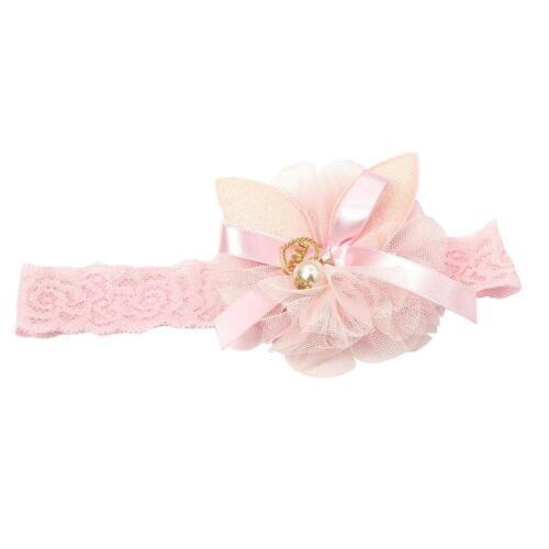 Mädchen Haarband Taufe Kinderhaarband Stirnband Haarschmuck Schleife Blume
