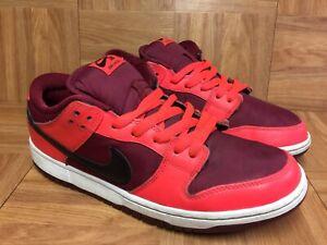RARE-Nike-Dunk-Low-SB-Laser-Crimson-Black-Team-Red-Sz-9-5-Men-039-s-304292-606