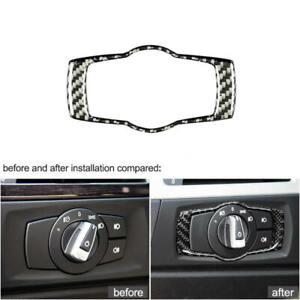 For-BMW-E92-E90-E93-3-Series-Carbon-Fiber-Headlight-Switch-Frame-Cover-Trim-sdf