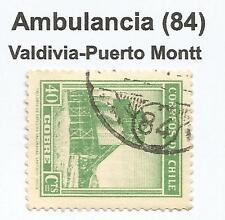 CHILE-TREN marcas postales. 1939. 40c . SG: 272. Ambulancia 84. Internet.5-P.