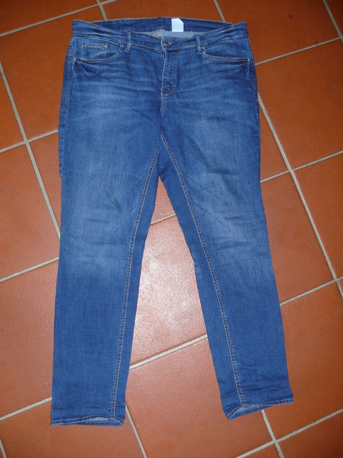 H&M Jeans Jeans Jeans Denim Dritto Girovita Regolare Tgl 48 Blu Medio 3d1f34