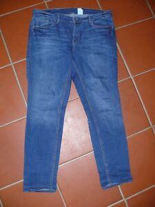 H-amp-M-Denim-Jeans-STRAIGHT-REGULAR-WAIST-Gr-48-mittelblau