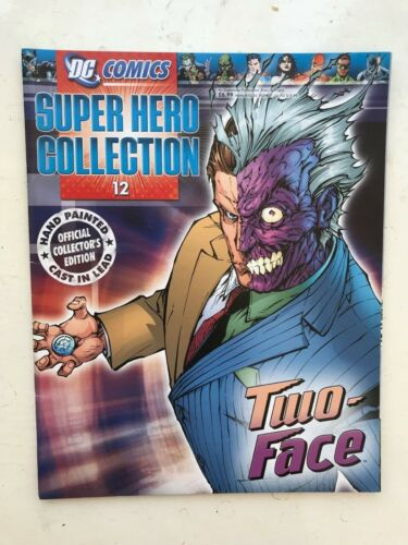DC COMICS SUPER HERO FIGURE COLLECTION ISSUE 12 TWO-FACE EAGLEMOSS MAGAZINE