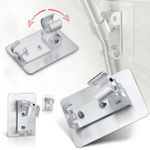 aluminum-adjustable-bathroom-shower-head-holder-stand-bracket-wall-mount-hook-XC