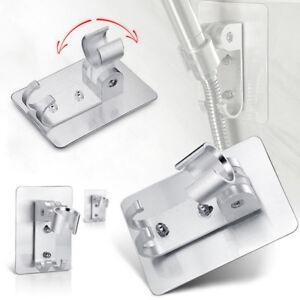 aluminum-adjustable-bathroom-shower-head-holder-stand-bracket-wall-mount-hook-XC