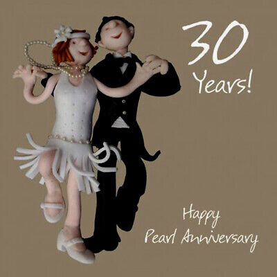 Wedding Anniversary Card 13th Thirteenth 13 Years Lace One Lump Or Two