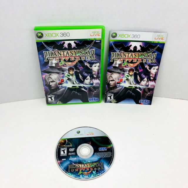 Phantasy Star Universe Microsoft Xbox 360 Video Game Complete With Manual
