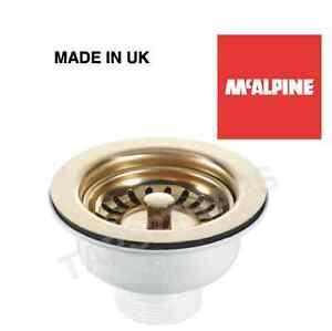 Image Is Loading McAlpine 65mm Gold Plated Belfast Sink Basket Strainer