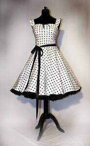 25485268c09cea Rock'n Roll 50er Jahre Dots Kleid Rockabilly Petticoat | eBay