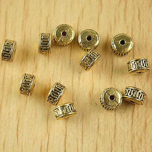 25pcs dark gold-tone columniform spacer beads h2338