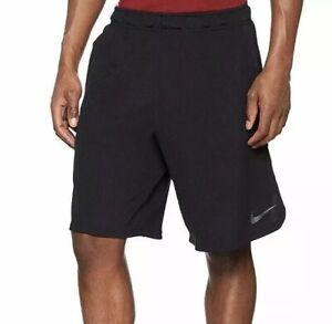 Détails sur Nike Homme Dri Fit Noir Short Running Sport Tennis Gym Medium Jogging Football afficher le titre d'origine